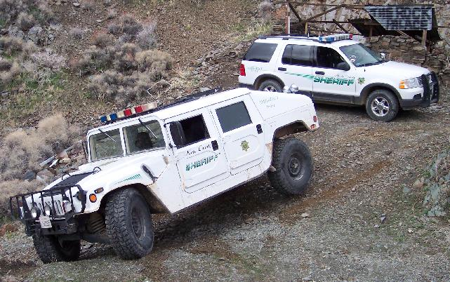 Patrol Vehicles in a rocky area